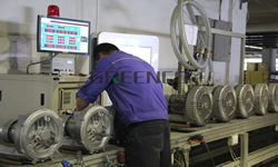 Outgoing Inspection GREENCO Side Channel Blower Equipments