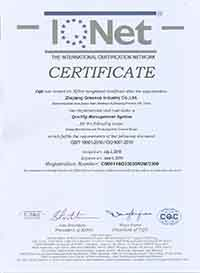 ISO9001:2008 GREENCO Side Channel Blower Certification